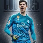 Thibaut Courtois Real Madrid Wallpaper handphone HD